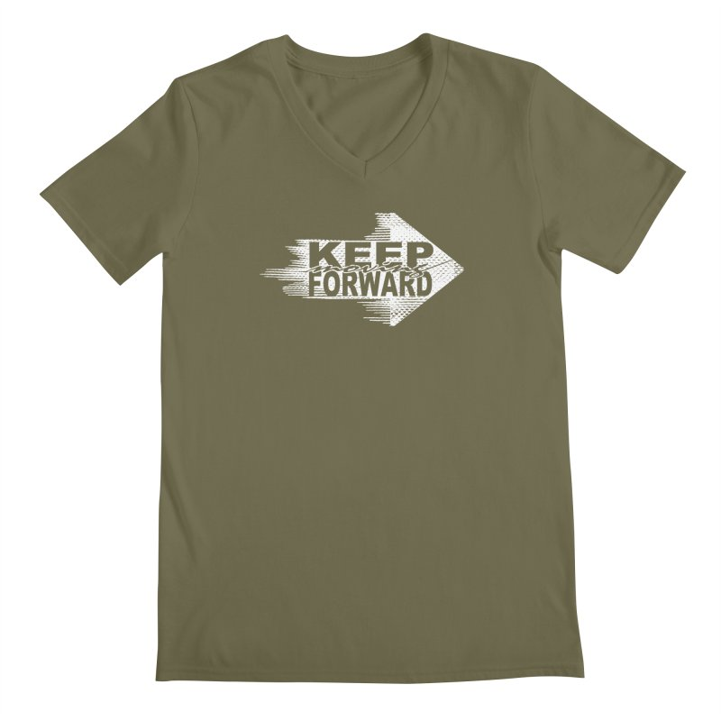 Keep Moving Forward Men's V-Neck by Make2wo Artist Shop