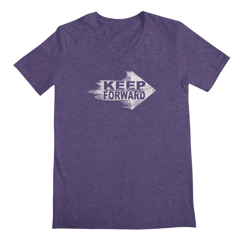 Keep Moving Forward Men's Regular V-Neck by Make2wo Artist Shop