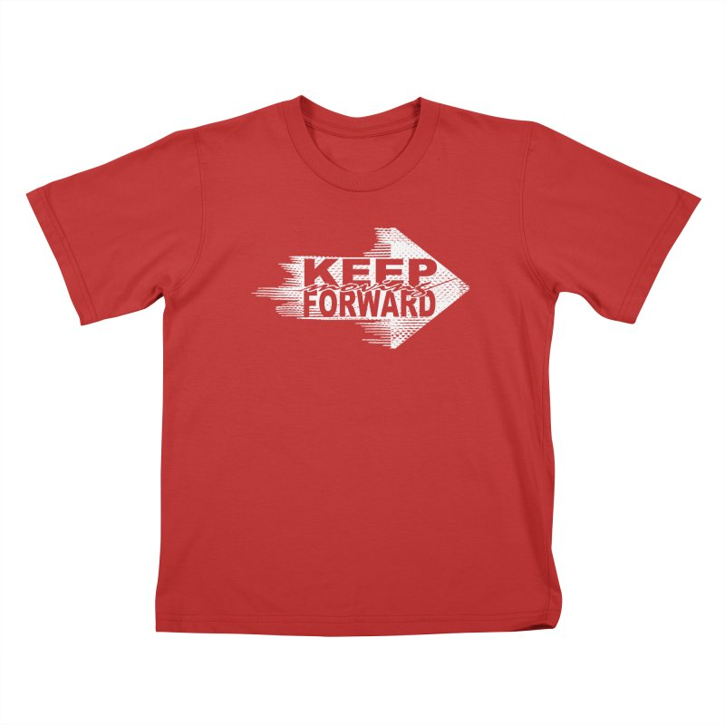Keep Moving Forward Kids T-shirt by Make2wo Artist Shop