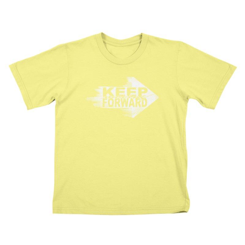 Keep Moving Forward Kids T-shirt by Make2wo Artist Shop
