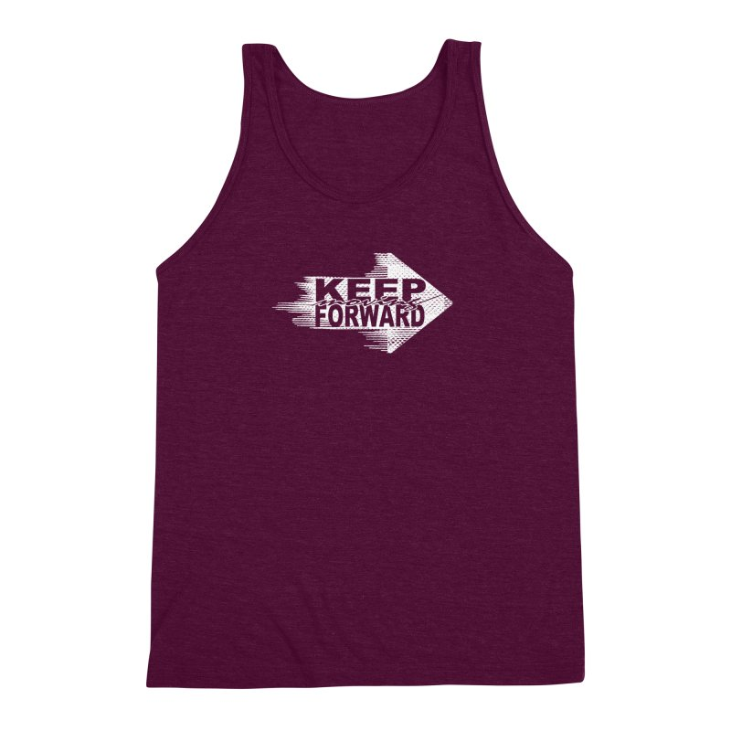 Keep Moving Forward Men's Triblend Tank by Make2wo Artist Shop