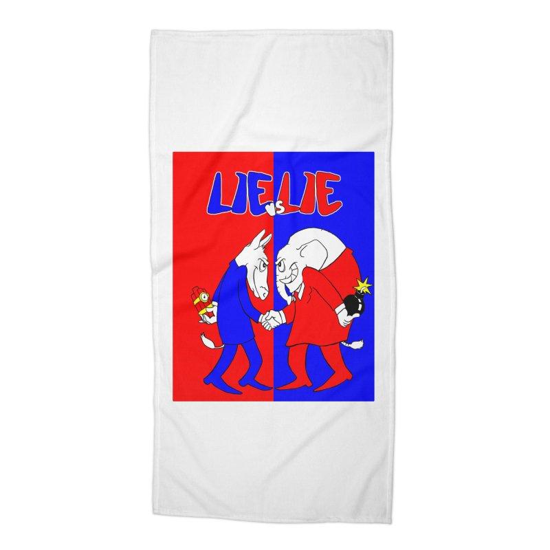 Lie vs Lie Accessories Beach Towel by Make2wo Artist Shop