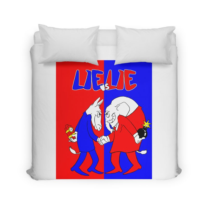 Lie vs Lie Home Duvet by Make2wo Artist Shop