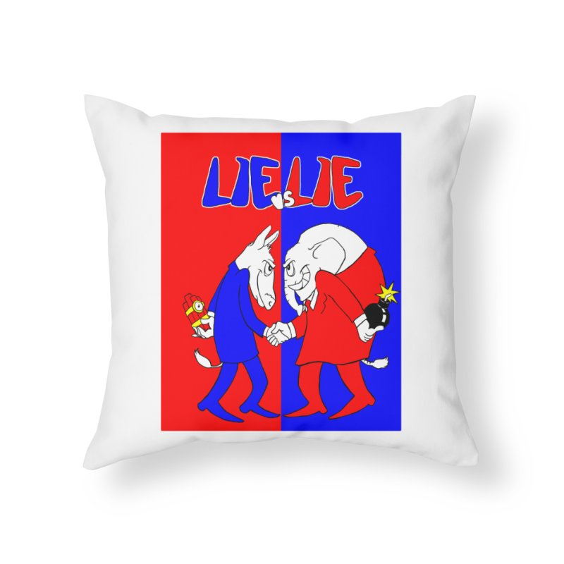 Lie vs Lie Home Throw Pillow by Make2wo Artist Shop