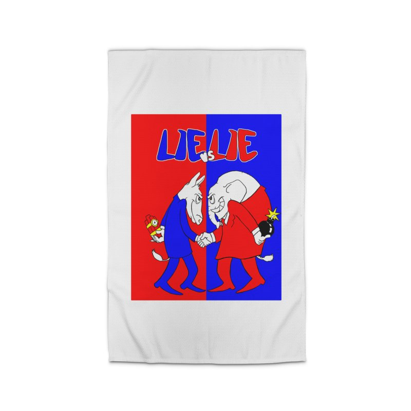 Lie vs Lie Home Rug by Make2wo Artist Shop