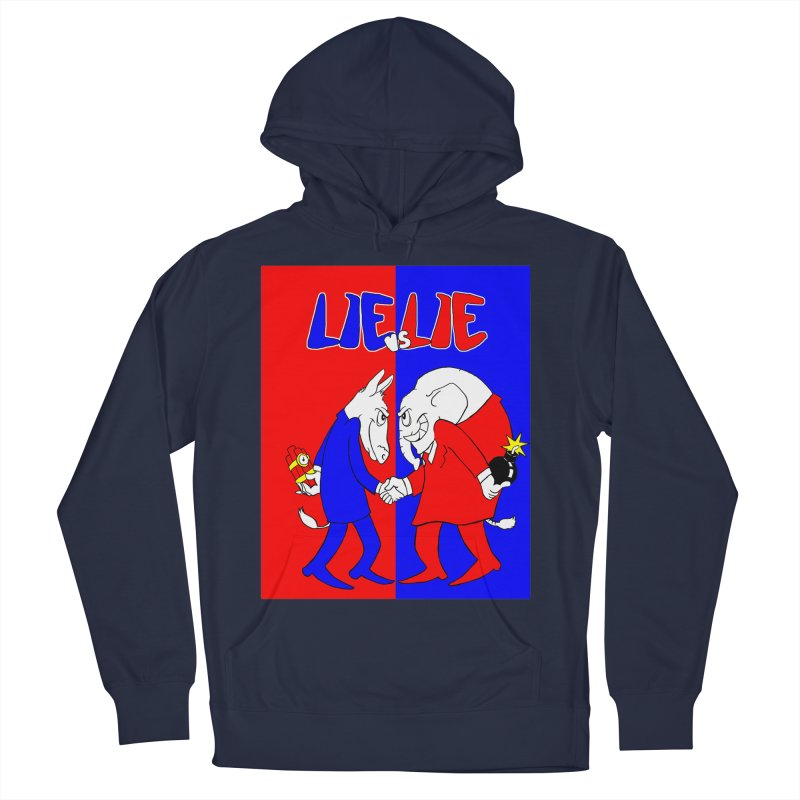 Lie vs Lie Men's French Terry Pullover Hoody by Make2wo Artist Shop