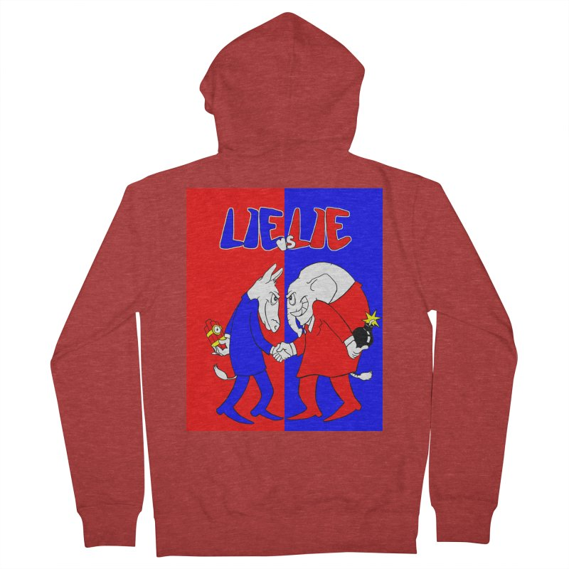 Lie vs Lie Women's French Terry Zip-Up Hoody by Make2wo Artist Shop