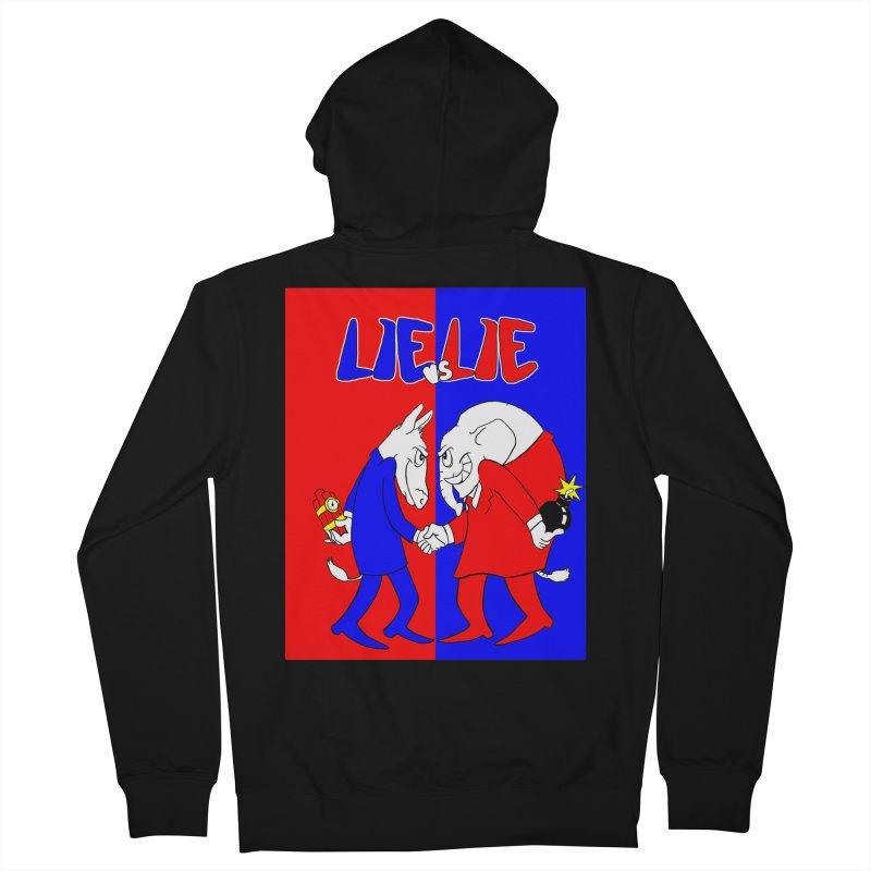 Lie vs Lie Women's Zip-Up Hoody by Make2wo Artist Shop