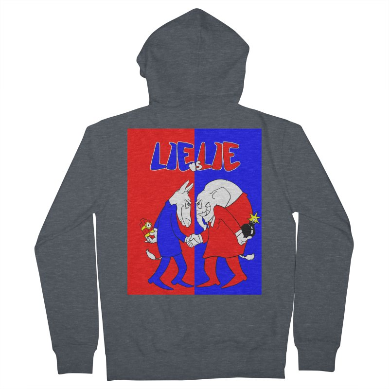 Lie vs Lie Men's Zip-Up Hoody by Make2wo Artist Shop