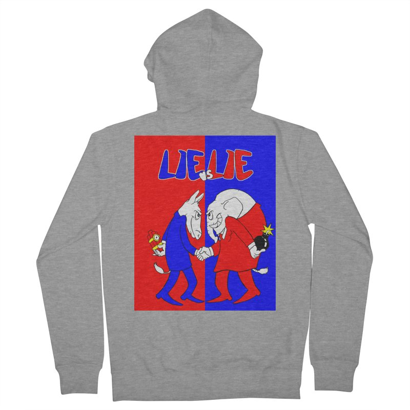 Lie vs Lie Men's French Terry Zip-Up Hoody by Make2wo Artist Shop