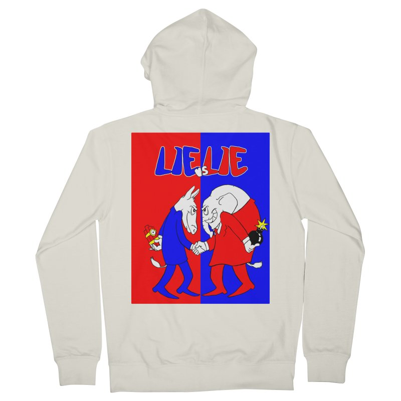 Lie vs Lie Men's Zip-Up Hoody by Make2wo Artist Shop
