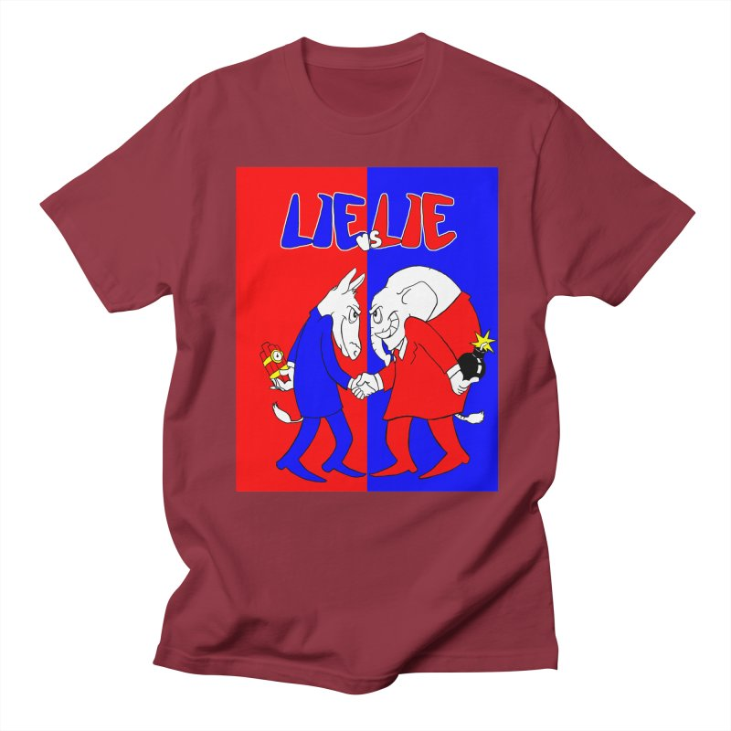 Lie vs Lie Men's T-Shirt by Make2wo Artist Shop