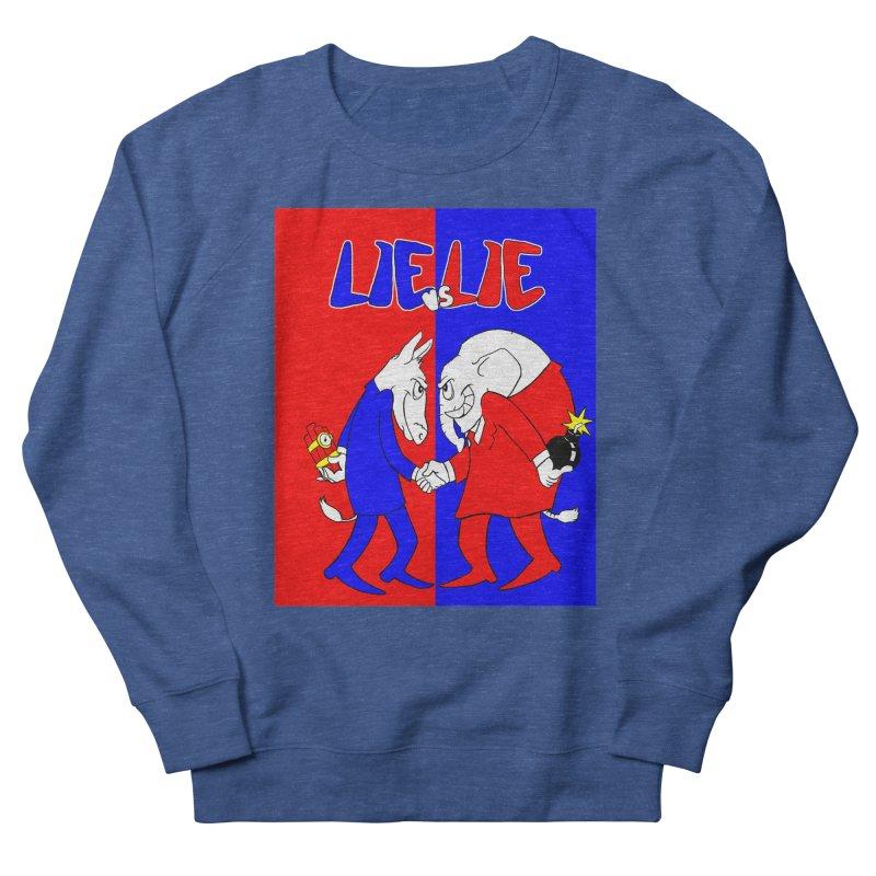 Lie vs Lie Men's French Terry Sweatshirt by Make2wo Artist Shop