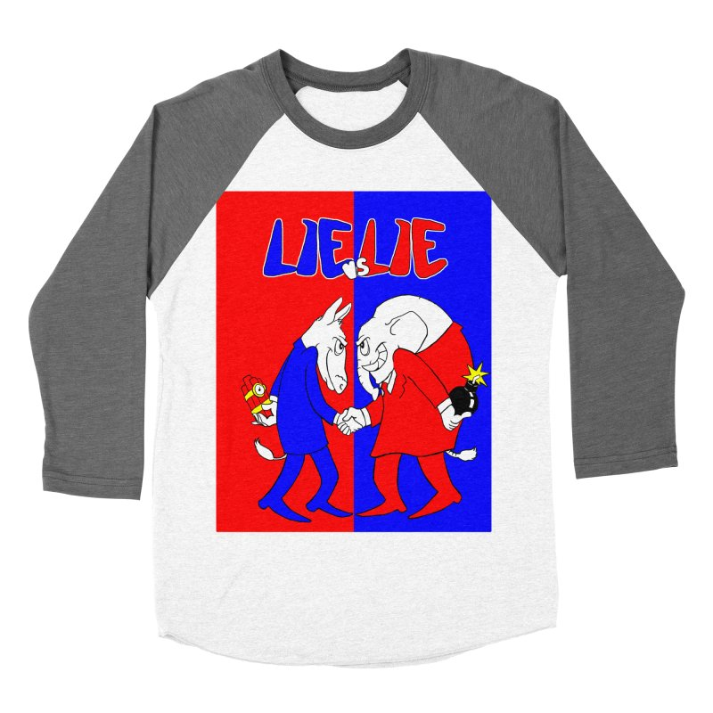 Lie vs Lie Women's Baseball Triblend T-Shirt by Make2wo Artist Shop