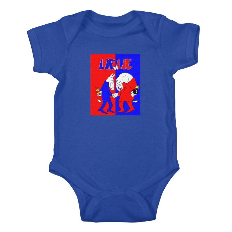 Lie vs Lie Kids Baby Bodysuit by Make2wo Artist Shop