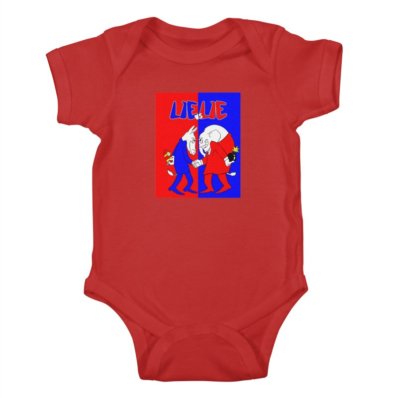 Lie vs Lie Kids Baby Bodysuit by Make2wo Artist Shop