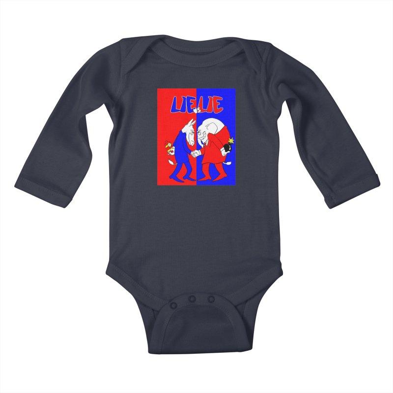 Lie vs Lie Kids Baby Longsleeve Bodysuit by Make2wo Artist Shop