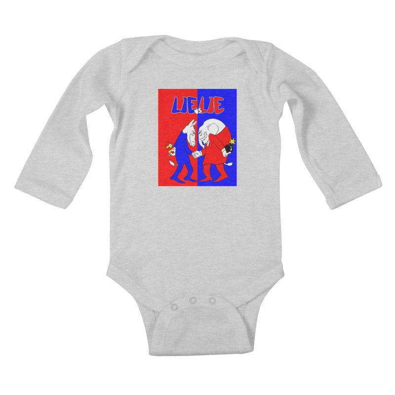 Lie vs Lie Kids Baby Longsleeve Bodysuit by Make2wo Artist Shop