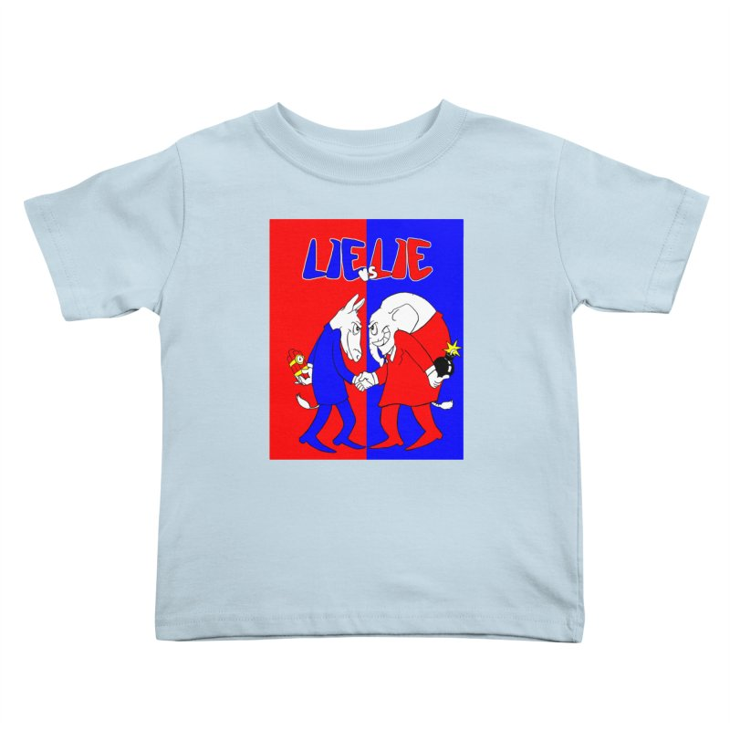 Lie vs Lie Kids Toddler T-Shirt by Make2wo Artist Shop