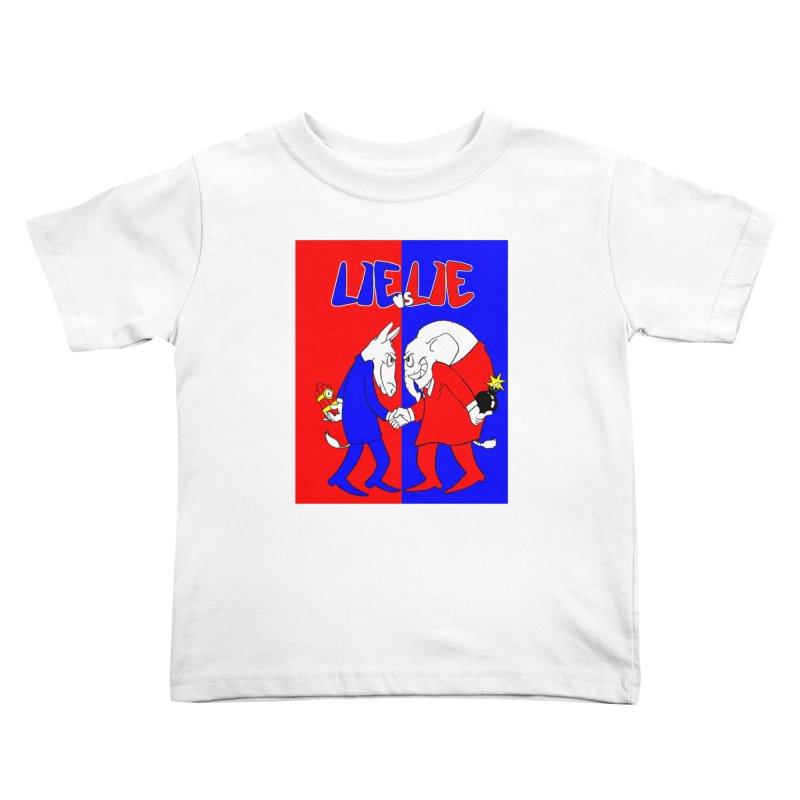Lie vs Lie Kids Toddler T-Shirt by Make2wo Artist Shop