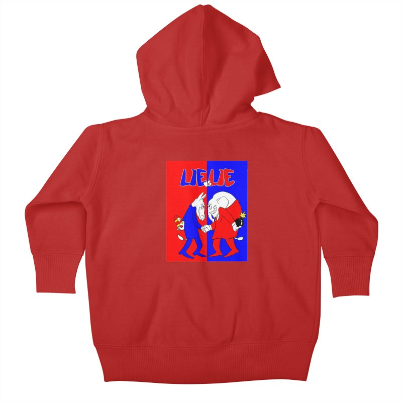 Lie vs Lie Kids Baby Zip-Up Hoody by Make2wo Artist Shop