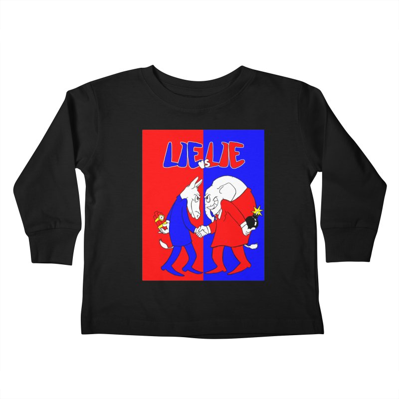 Lie vs Lie Kids Toddler Longsleeve T-Shirt by Make2wo Artist Shop