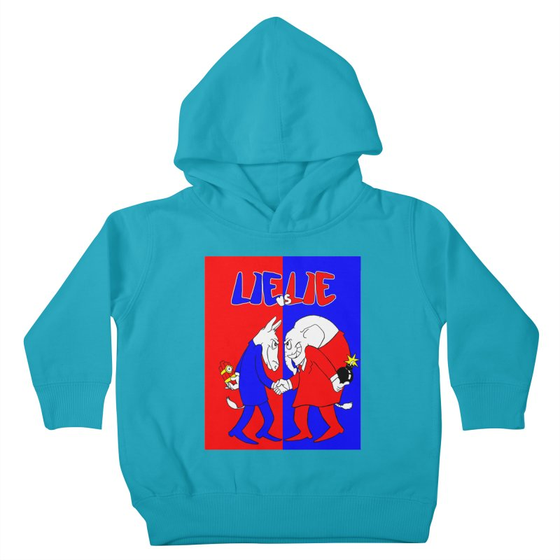 Lie vs Lie Kids Toddler Pullover Hoody by Make2wo Artist Shop