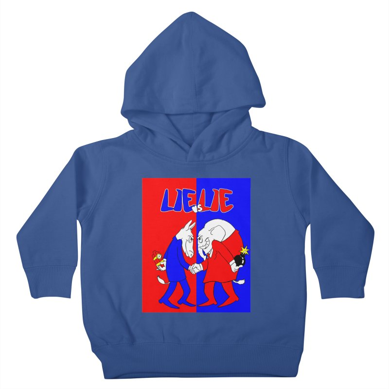 Lie vs Lie Kids Toddler Pullover Hoody by Make2wo Artist Shop