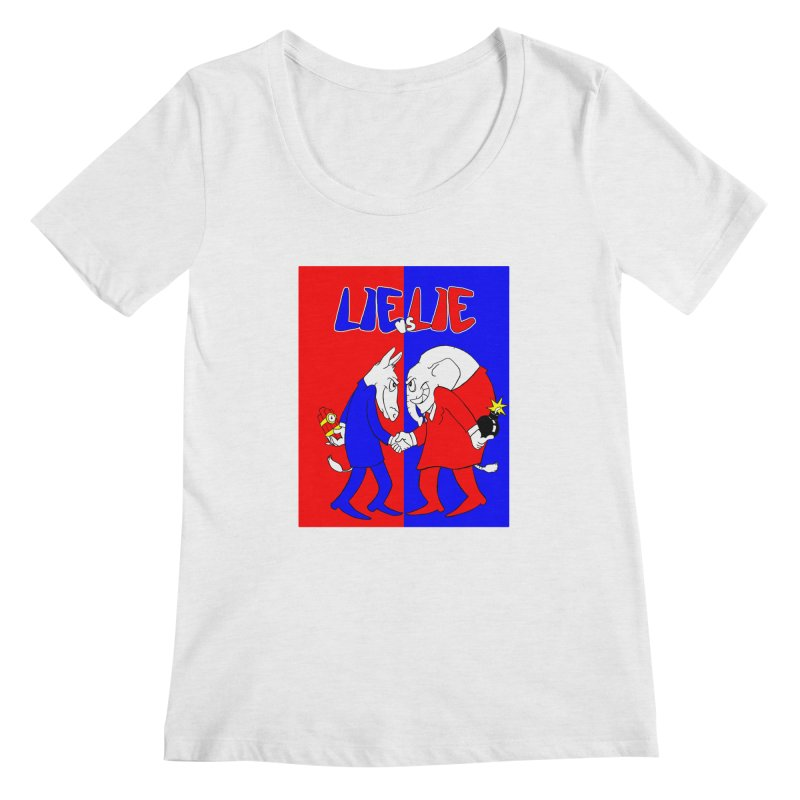 Lie vs Lie Women's Scoopneck by Make2wo Artist Shop