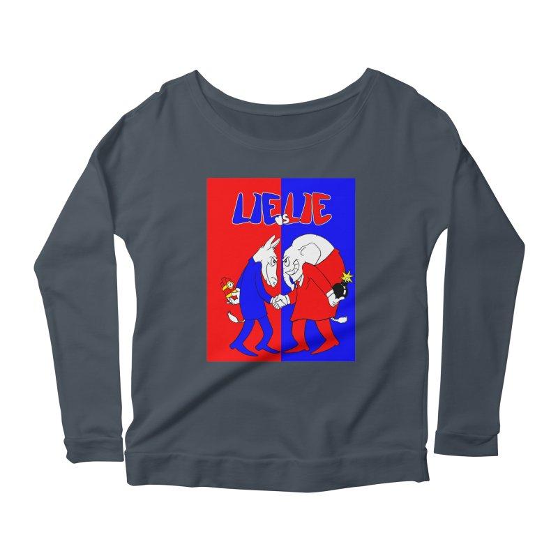 Lie vs Lie Women's Scoop Neck Longsleeve T-Shirt by Make2wo Artist Shop