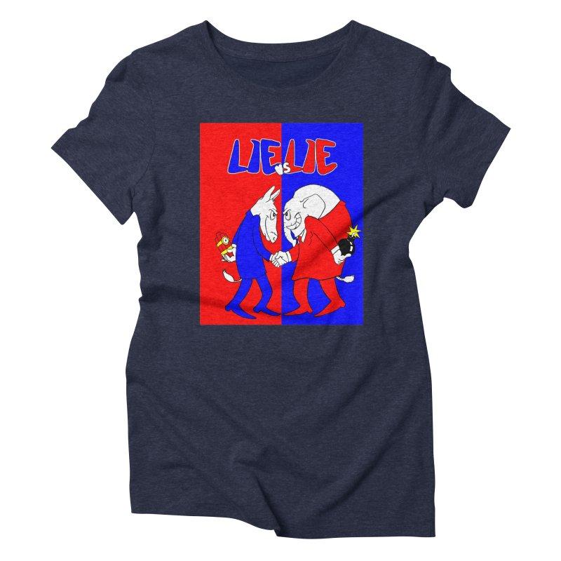 Lie vs Lie Women's Triblend T-Shirt by Make2wo Artist Shop