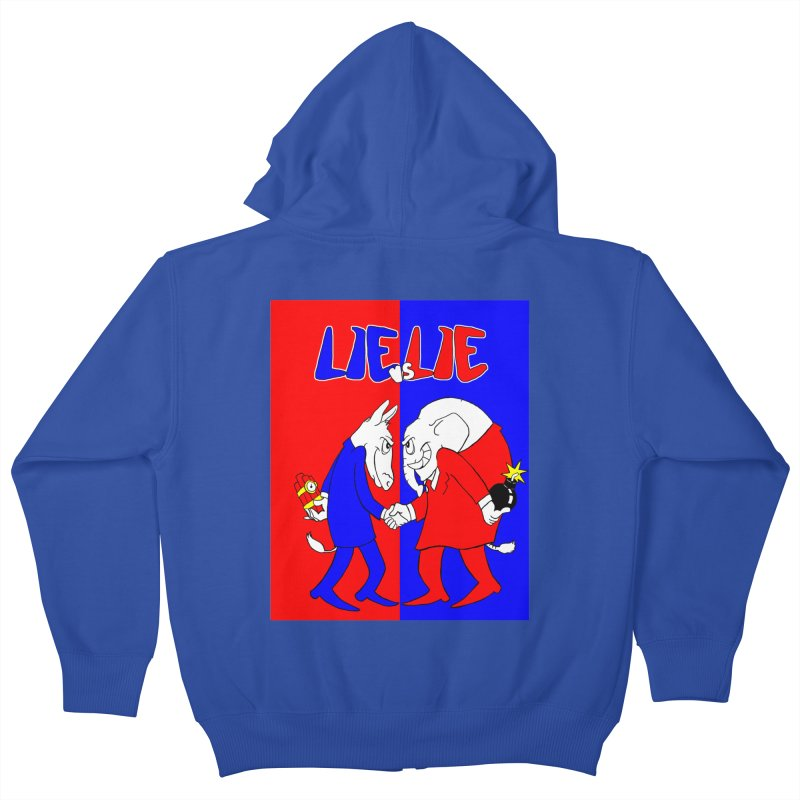 Lie vs Lie Kids Zip-Up Hoody by Make2wo Artist Shop