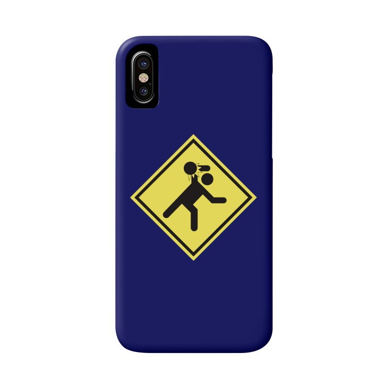 Dodgeball Caution Accessories Phone Case by Make2wo Artist Shop