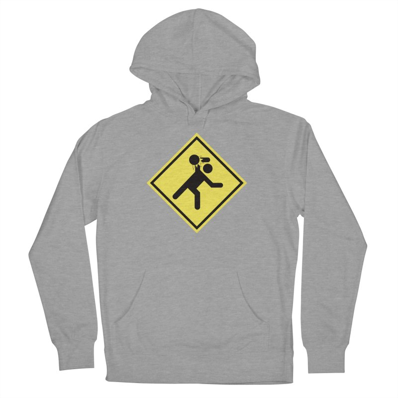 Dodgeball Caution Women's French Terry Pullover Hoody by Make2wo Artist Shop