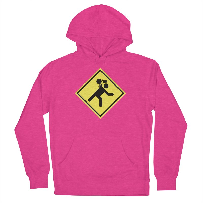 Dodgeball Caution Men's French Terry Pullover Hoody by Make2wo Artist Shop