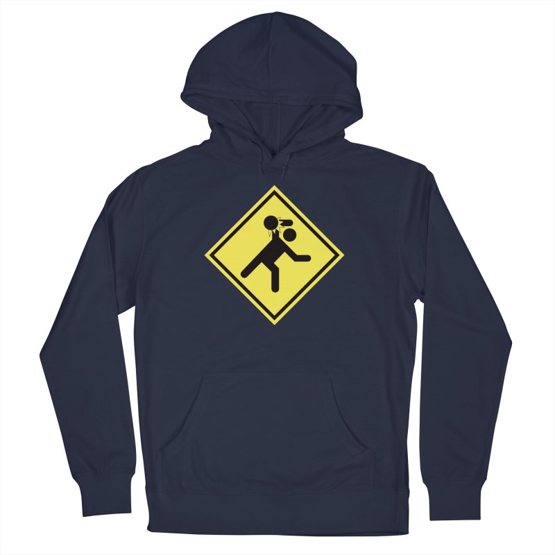 Dodgeball Caution Men's Pullover Hoody by Make2wo Artist Shop