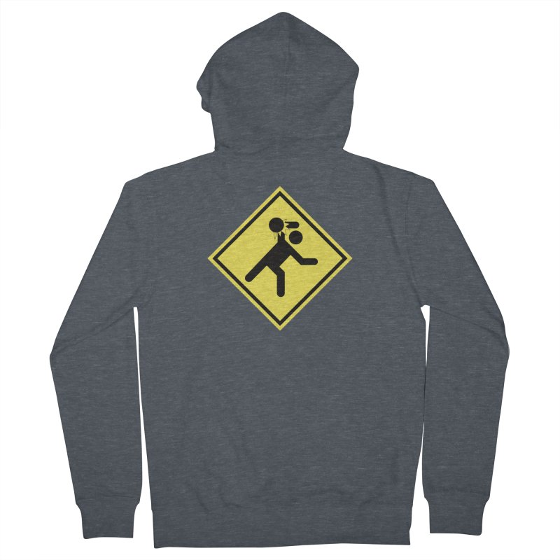 Dodgeball Caution Men's Zip-Up Hoody by Make2wo Artist Shop