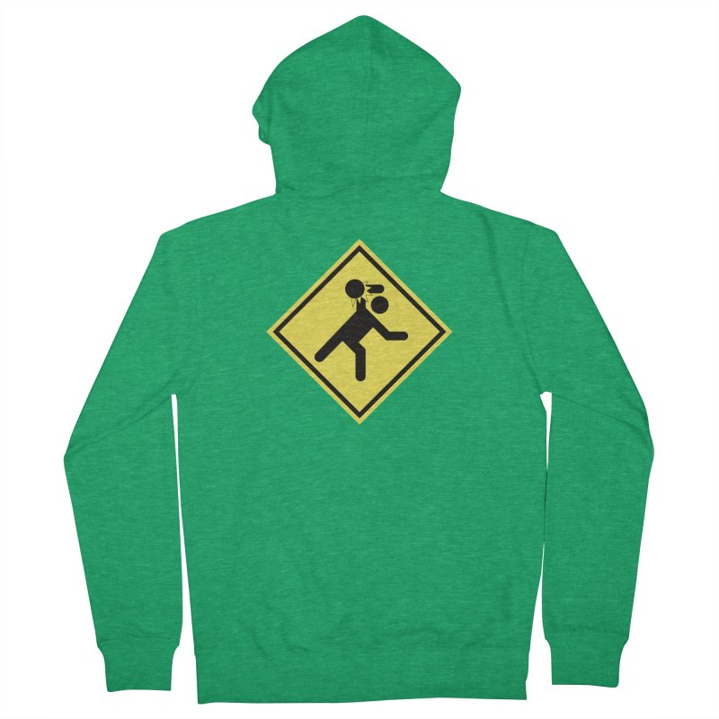 Dodgeball Caution Men's French Terry Zip-Up Hoody by Make2wo Artist Shop