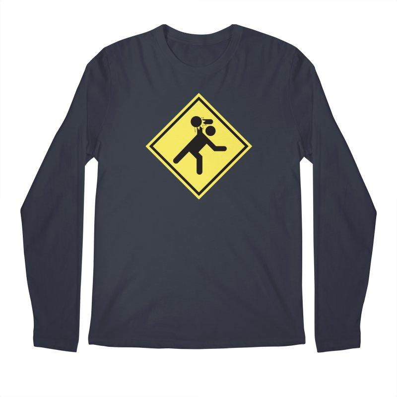 Dodgeball Caution Men's Longsleeve T-Shirt by Make2wo Artist Shop