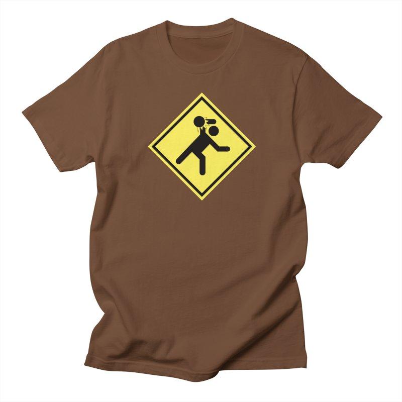Dodgeball Caution Men's T-shirt by Make2wo Artist Shop