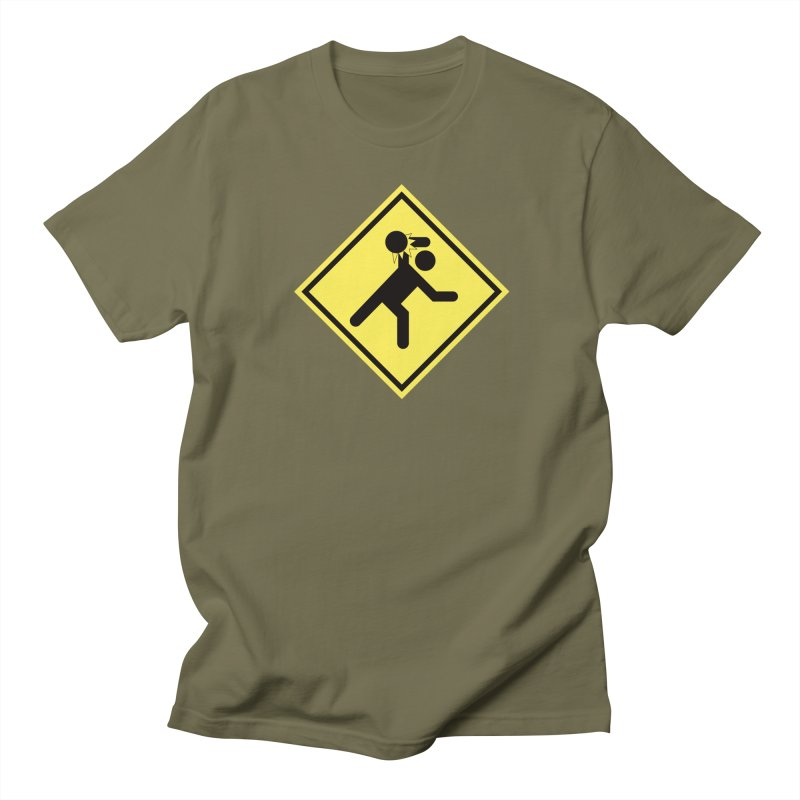 Dodgeball Caution Men's T-Shirt by Make2wo Artist Shop