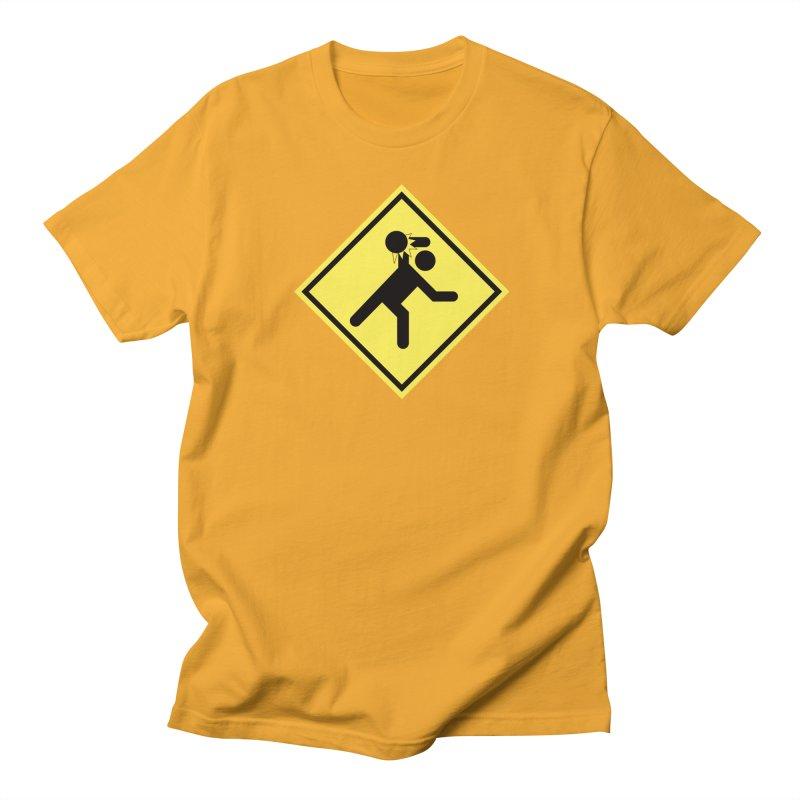 Dodgeball Caution Men's Regular T-Shirt by Make2wo Artist Shop