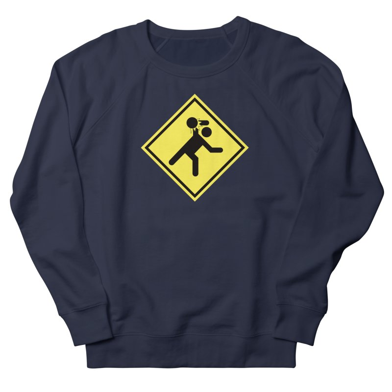 Dodgeball Caution Men's French Terry Sweatshirt by Make2wo Artist Shop