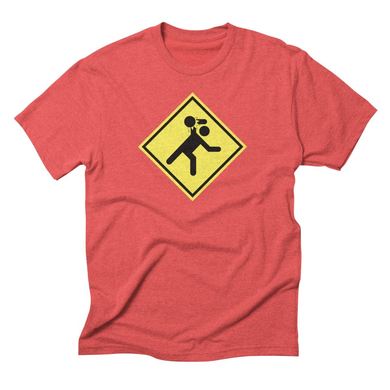 Dodgeball Caution Men's Triblend T-Shirt by Make2wo Artist Shop