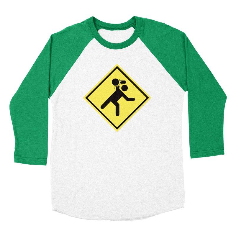 Dodgeball Caution Women's Baseball Triblend T-Shirt by Make2wo Artist Shop