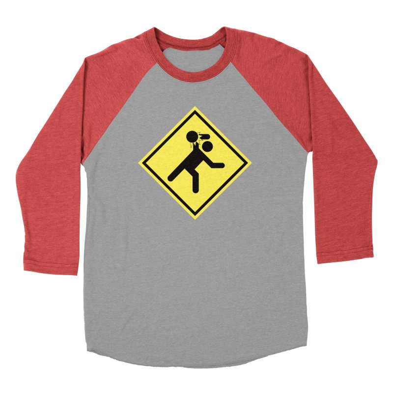 Dodgeball Caution Men's Baseball Triblend T-Shirt by Make2wo Artist Shop
