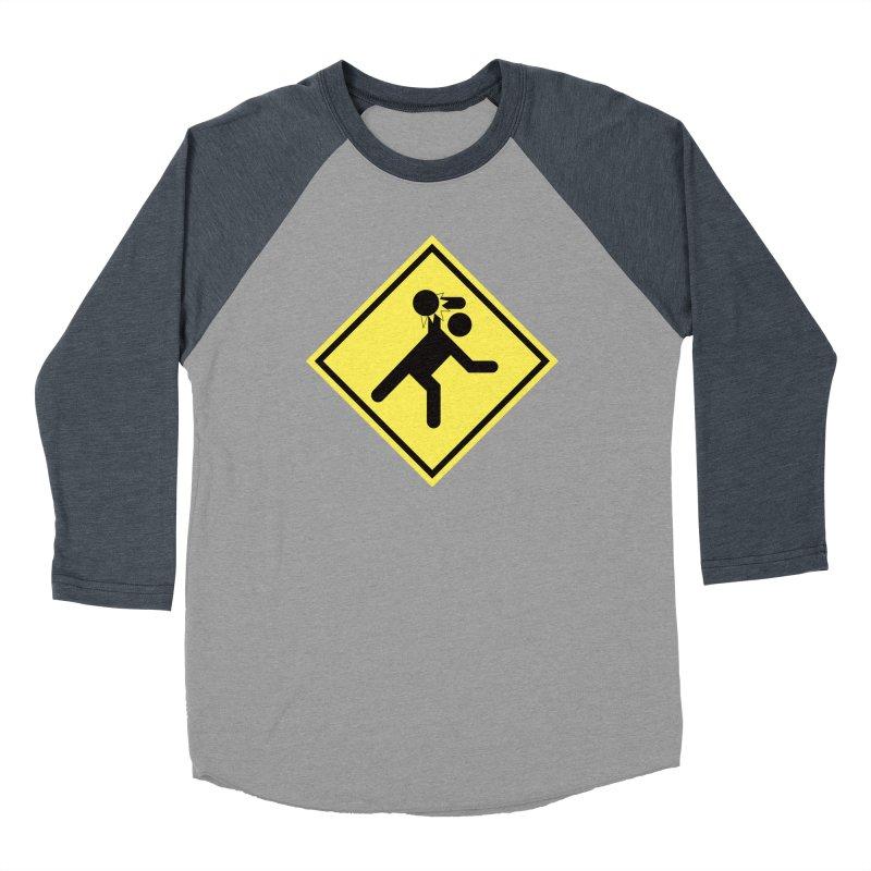 Dodgeball Caution Men's Baseball Triblend Longsleeve T-Shirt by Make2wo Artist Shop