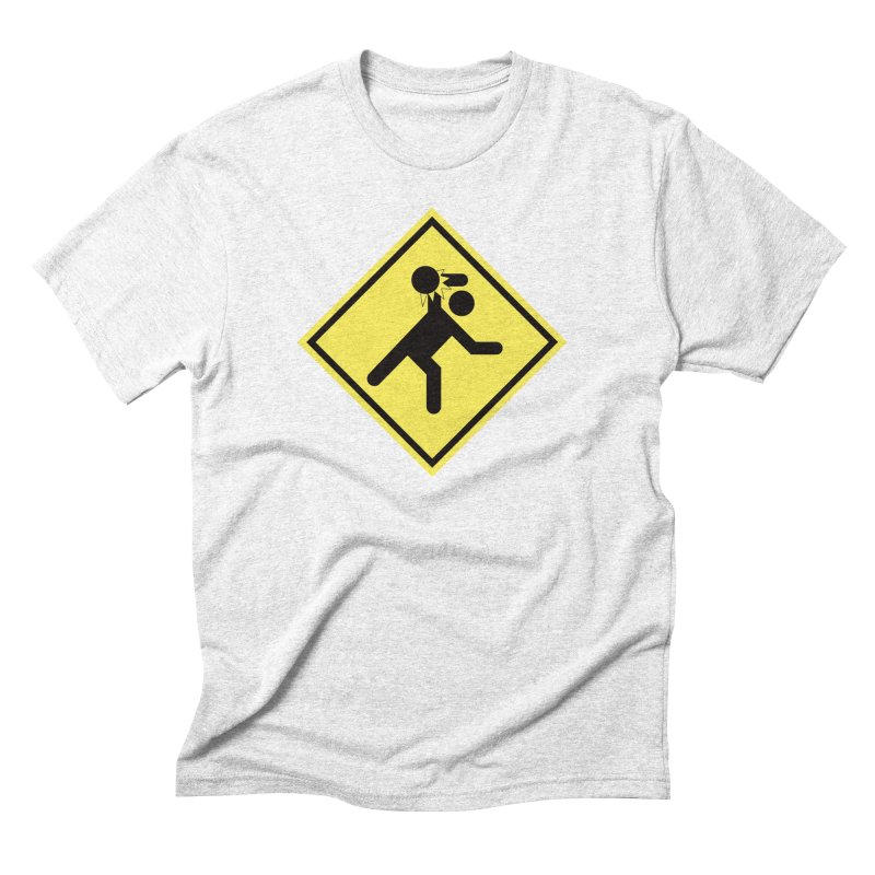 Dodgeball Caution Men's Triblend T-shirt by Make2wo Artist Shop