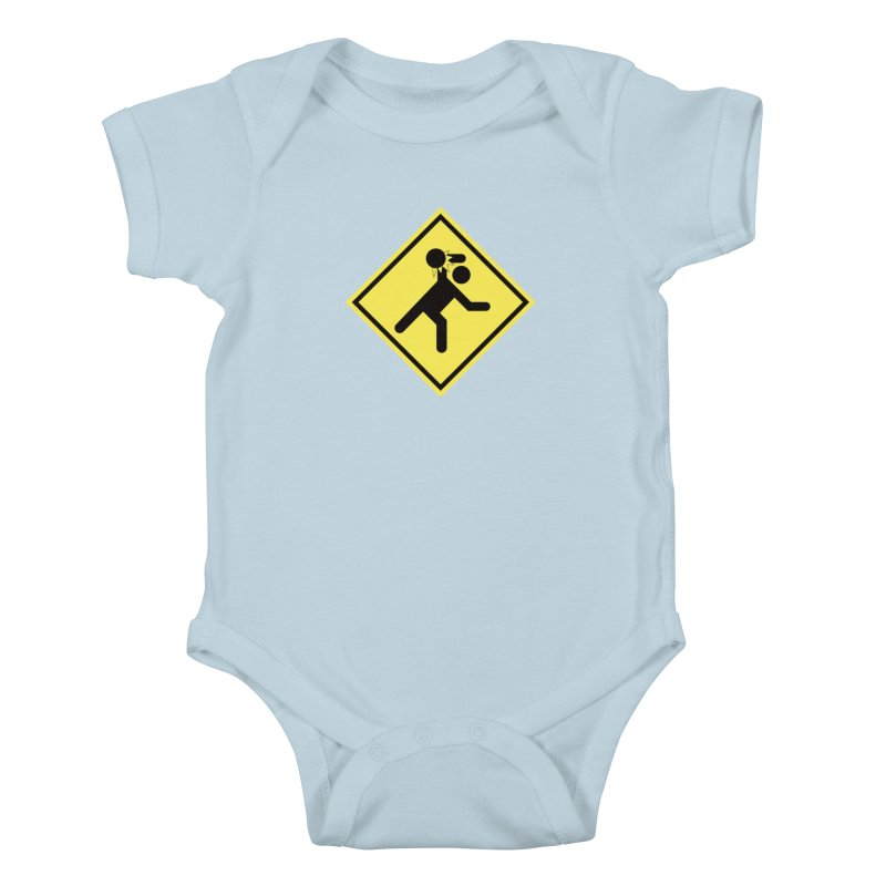 Dodgeball Caution Kids Baby Bodysuit by Make2wo Artist Shop