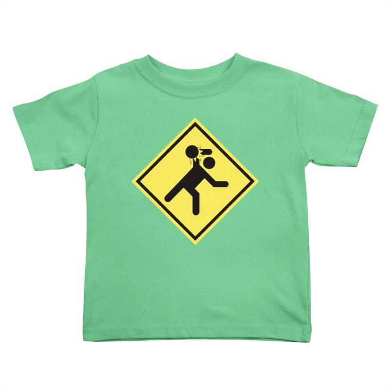 Dodgeball Caution Kids Toddler T-Shirt by Make2wo Artist Shop
